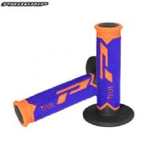 Pro Grip 788 Triple Density Full Diamond Grips **LTD** Orange End / Blue Centre / Black Inner